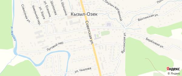Советская улица на карте села Кызыла-Озька Алтая с номерами домов