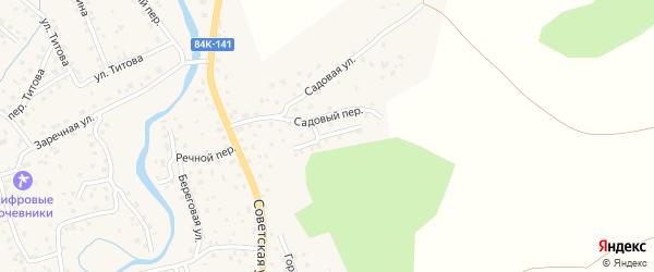 Грушевый переулок на карте села Кызыла-Озька Алтая с номерами домов