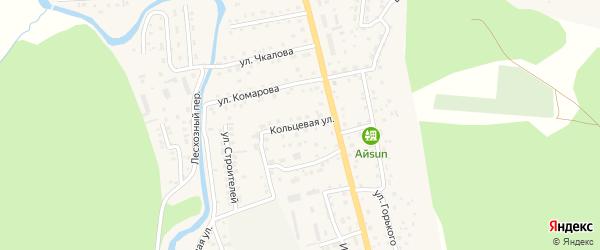 Кольцевая улица на карте села Кызыла-Озька Алтая с номерами домов