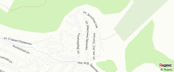 Улица М.В.Эдокова на карте Горно-Алтайска с номерами домов