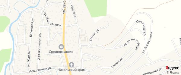 Горная улица на карте села Кызыла-Озька Алтая с номерами домов