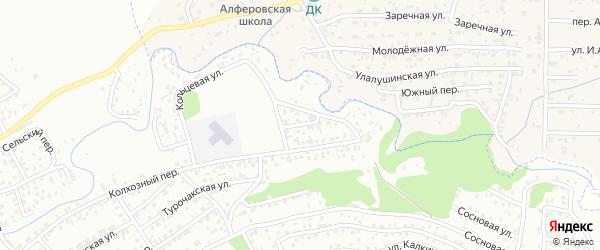 Кольцевой переулок на карте Горно-Алтайска с номерами домов