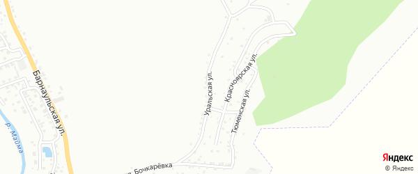 Уральская улица на карте Горно-Алтайска с номерами домов