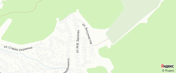Улица Энтузиастов на карте Горно-Алтайска с номерами домов
