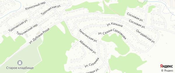Теньгинская улица на карте Горно-Алтайска с номерами домов