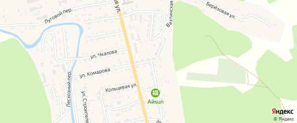 Новый переулок на карте села Кызыла-Озька Алтая с номерами домов
