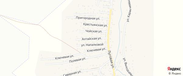 Алтайская улица на карте поселка Алферово Алтая с номерами домов
