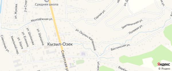 Улица Окулич-Казариной на карте села Кызыла-Озька Алтая с номерами домов