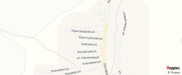 Крестьянская улица на карте Горно-Алтайска с номерами домов