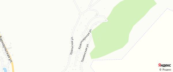 Красноярская улица на карте Горно-Алтайска с номерами домов