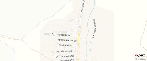 Улица Космонавтов на карте поселка Алферово Алтая с номерами домов