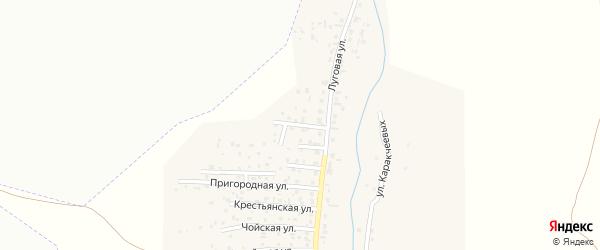 Улица Строителей на карте поселка Алферово Алтая с номерами домов