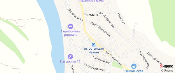 Благодатная улица на карте села Чемал Алтая с номерами домов