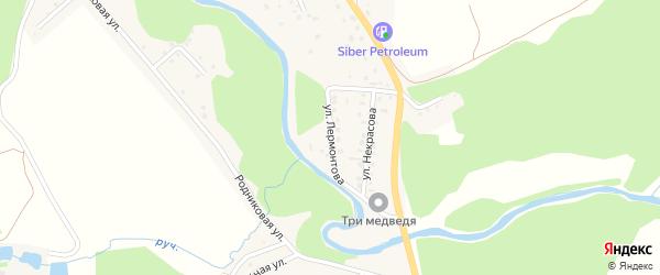 Улица Лермонтова на карте села Кызыла-Озька Алтая с номерами домов