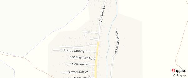 Юбилейная улица на карте поселка Алферово Алтая с номерами домов