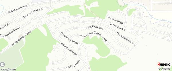 Переулок С.С.Суразакова на карте Горно-Алтайска с номерами домов