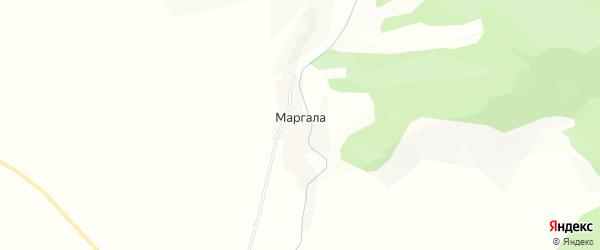 Карта поселка Маргалы в Алтае с улицами и номерами домов