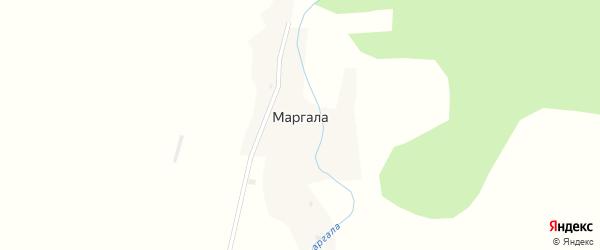 Набережный переулок на карте поселка Маргалы Алтая с номерами домов