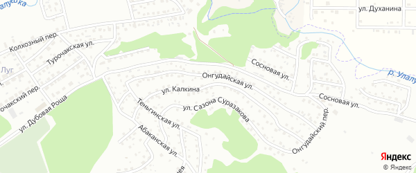 Улица Г.А.Калкина на карте Горно-Алтайска с номерами домов