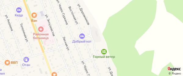 Улица Дорожников на карте села Чемал Алтая с номерами домов