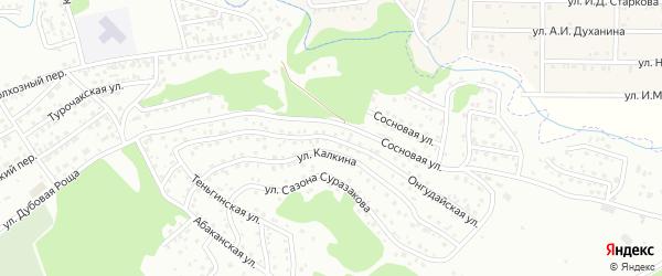 Онгудайская улица на карте Горно-Алтайска с номерами домов