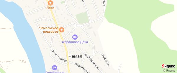 Новая улица на карте села Чемал Алтая с номерами домов