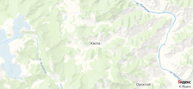 Каспа на карте