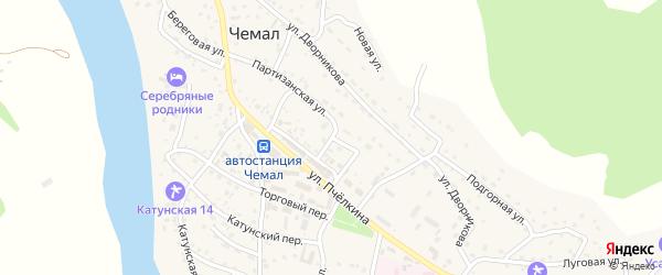 Партизанская улица на карте села Чемал Алтая с номерами домов