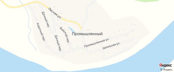 Школьная улица на карте Промышленного поселка с номерами домов