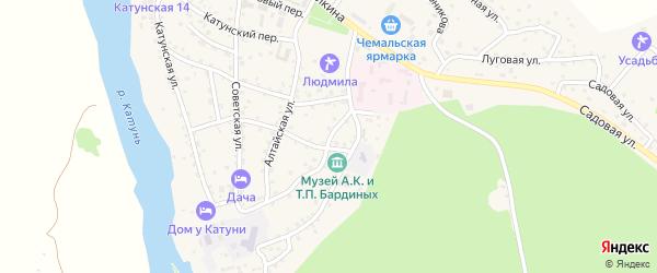 Улица Зеленая Роща на карте села Чемал Алтая с номерами домов