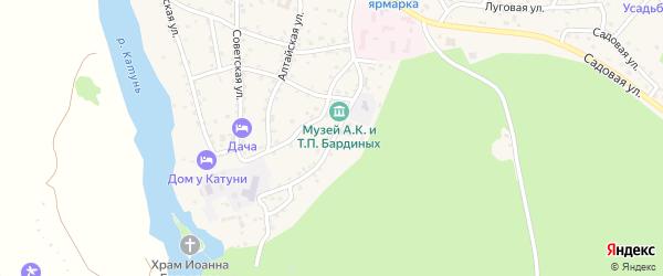 Бешпекская улица на карте села Чемал Алтая с номерами домов