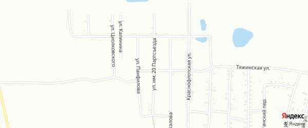 Улица им 20 Партсъезда на карте Анжеро-Судженска с номерами домов