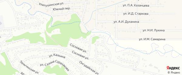 Раздольный переулок на карте Горно-Алтайска с номерами домов
