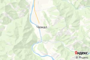 Карта с. Чемал Республика Алтай