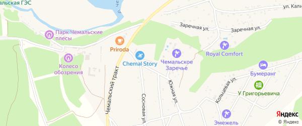 Южная улица на карте села Чемал Алтая с номерами домов