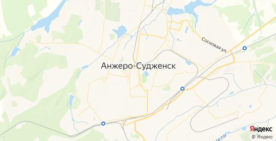 Карта Анжеро-Судженска с улицами и домами подробная. Показать со спутника номера домов онлайн