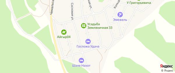 Земляничная улица на карте села Чемал Алтая с номерами домов