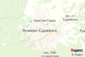 Карта г. Анжеро-Судженск Кемеровская область
