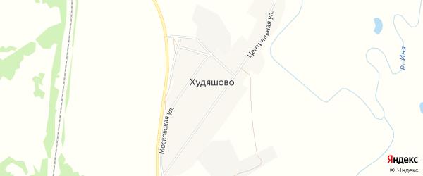 Карта села Худяшово в Кемеровской области с улицами и номерами домов