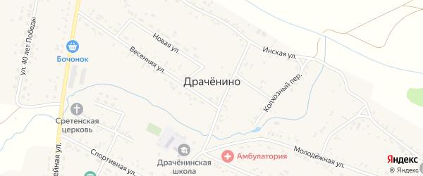 Магистральная улица на карте села Драченино Кемеровской области с номерами домов