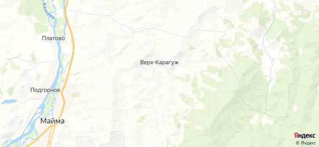 Верх-Карагуж на карте