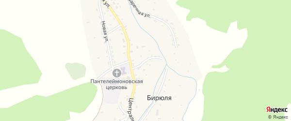 Студенческий переулок на карте села Бирюли Алтая с номерами домов
