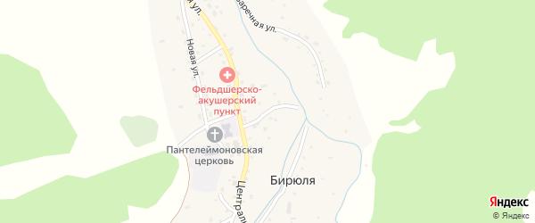 Студенческий переулок на карте села Бирюли с номерами домов