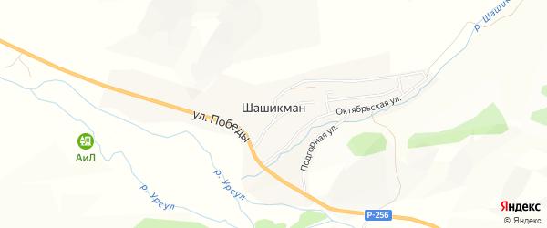 Карта села Шашикмана в Алтае с улицами и номерами домов