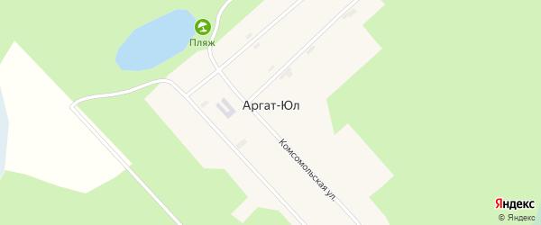 Улица Гагарина на карте поселка Аргата-Юл Томской области с номерами домов