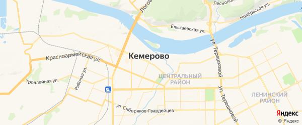 Карта Кемерово с районами, улицами и номерами домов