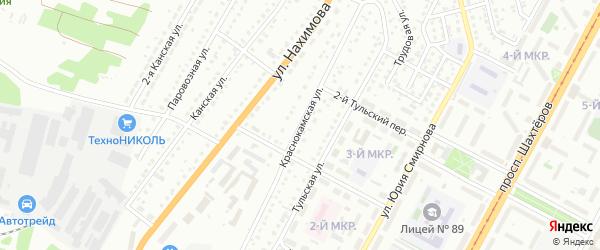 Краснокамская улица на карте Кемерово с номерами домов