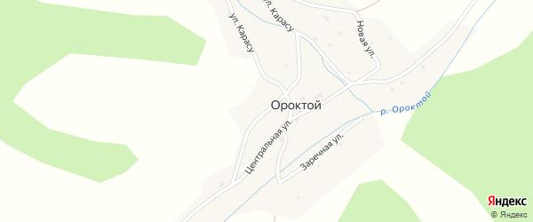 Подгорная улица на карте села Ороктой Алтая с номерами домов
