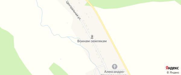 Центральная улица на карте села Александровки Алтая с номерами домов