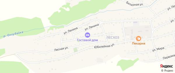 Верх-Катунская улица на карте села Онгудая Алтая с номерами домов